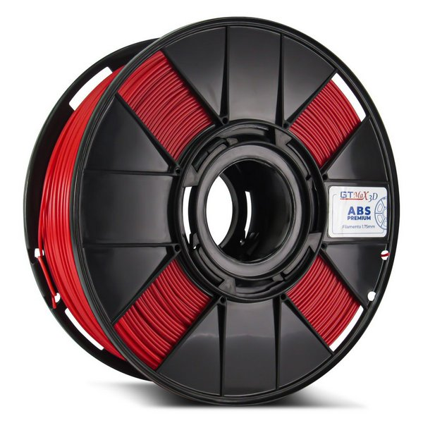 Filamento ABS - Vermelho - Premium - GTMax 3D - 1.75mm - 1KG