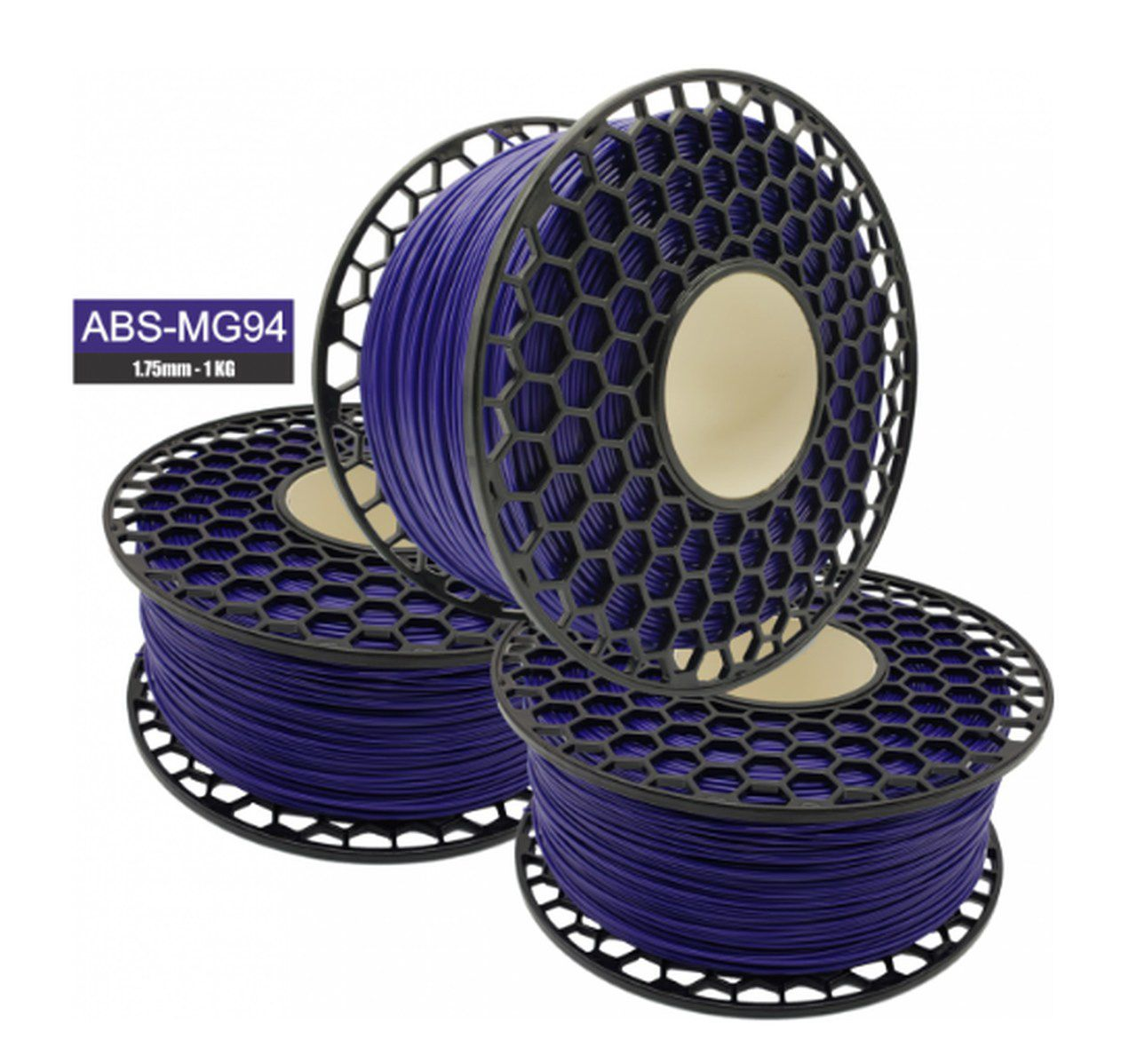 Filamento ABS - Violeta - Premium MG94 - National 3D - 1.75mm - 1kg