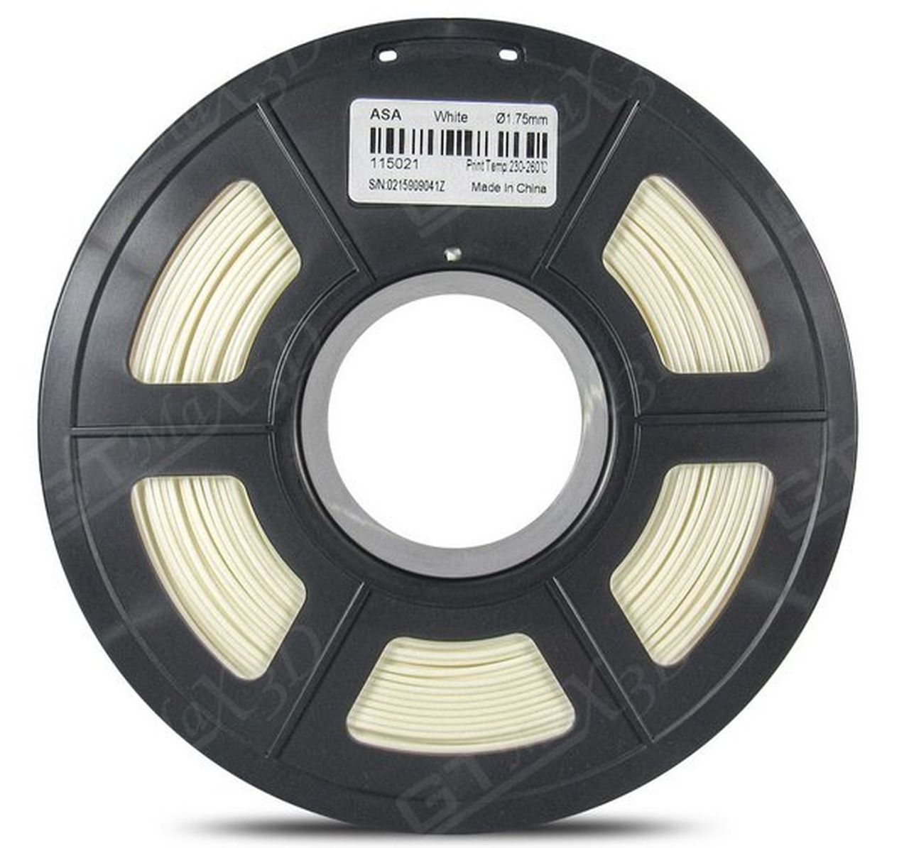 Filamento ASA - Branco - GTMax 3D - 1.75 mm - 1 KG