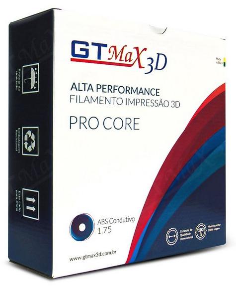 Filamento Condutivo - Preto - GTMax 3D 1.75mm - 1kg