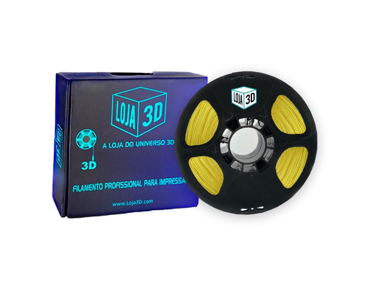 Filamento Flex TPU Premium - Amarelo - Loja 3D - 1.75mm - 1kg