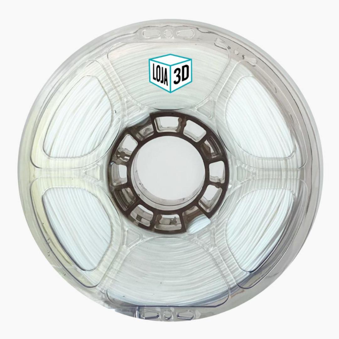 Filamento Flex TPU Premium - Branco - Loja 3D - 1.75mm - 1kg
