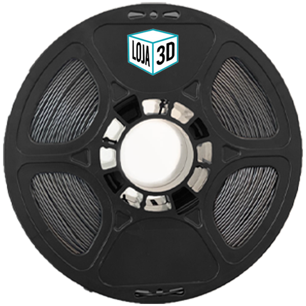 Filamento Flex TPU Premium - Preto Fosco - 100a 61d - Loja 3D - 1.75mm - 1kg