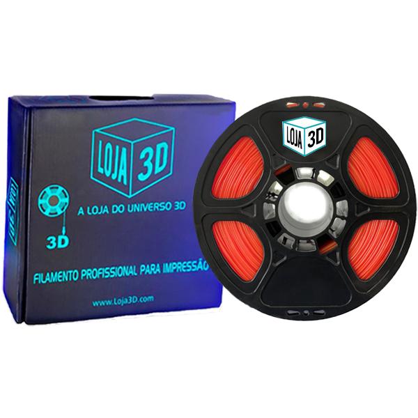 Filamento Flex TPU Premium - Laranja - Loja 3D - 1.75mm - 1kg