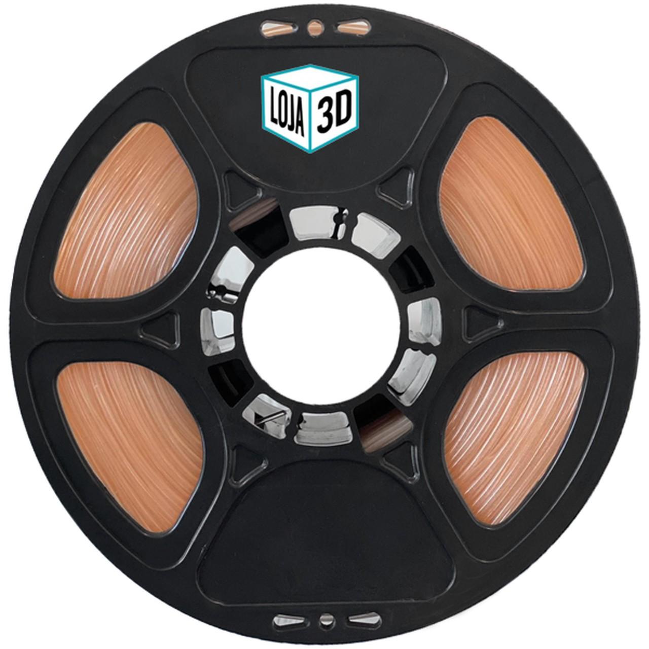 Filamento Flex TPU Premium - Laranja Telha - Loja 3D - 1.75mm - 1kg