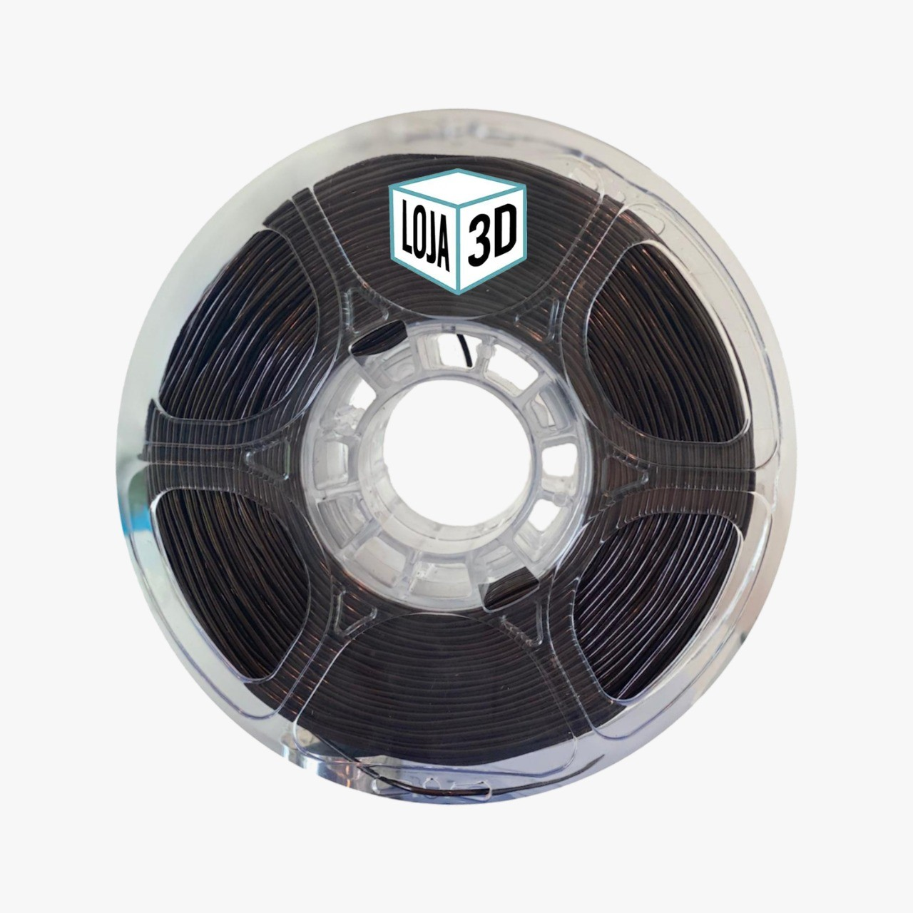 Filamento Flex TPU Premium - Marrom Escuro - Loja 3D - 1.75mm - 1kg