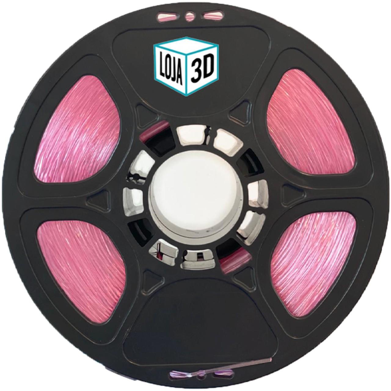 Filamento Flex TPU Premium - Rosa - Loja 3D - 1.75mm - 1kg
