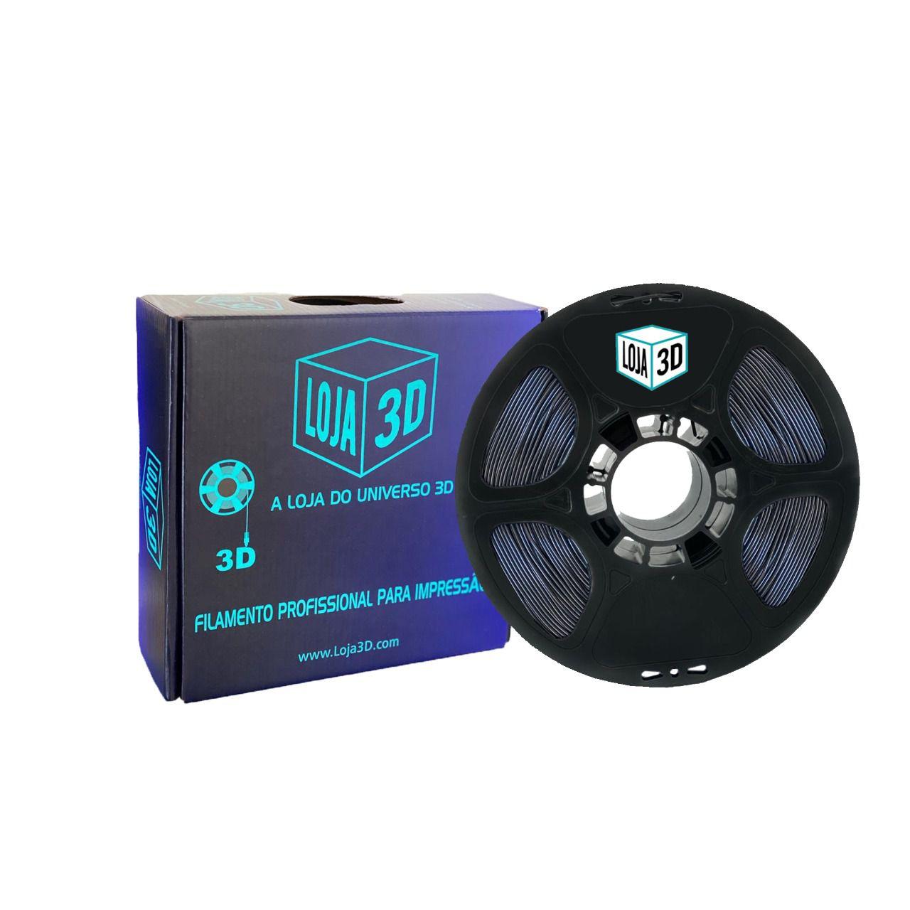 Filamento Flex TPU Premium - Roxo - Loja 3D - 1.75mm - 1kg