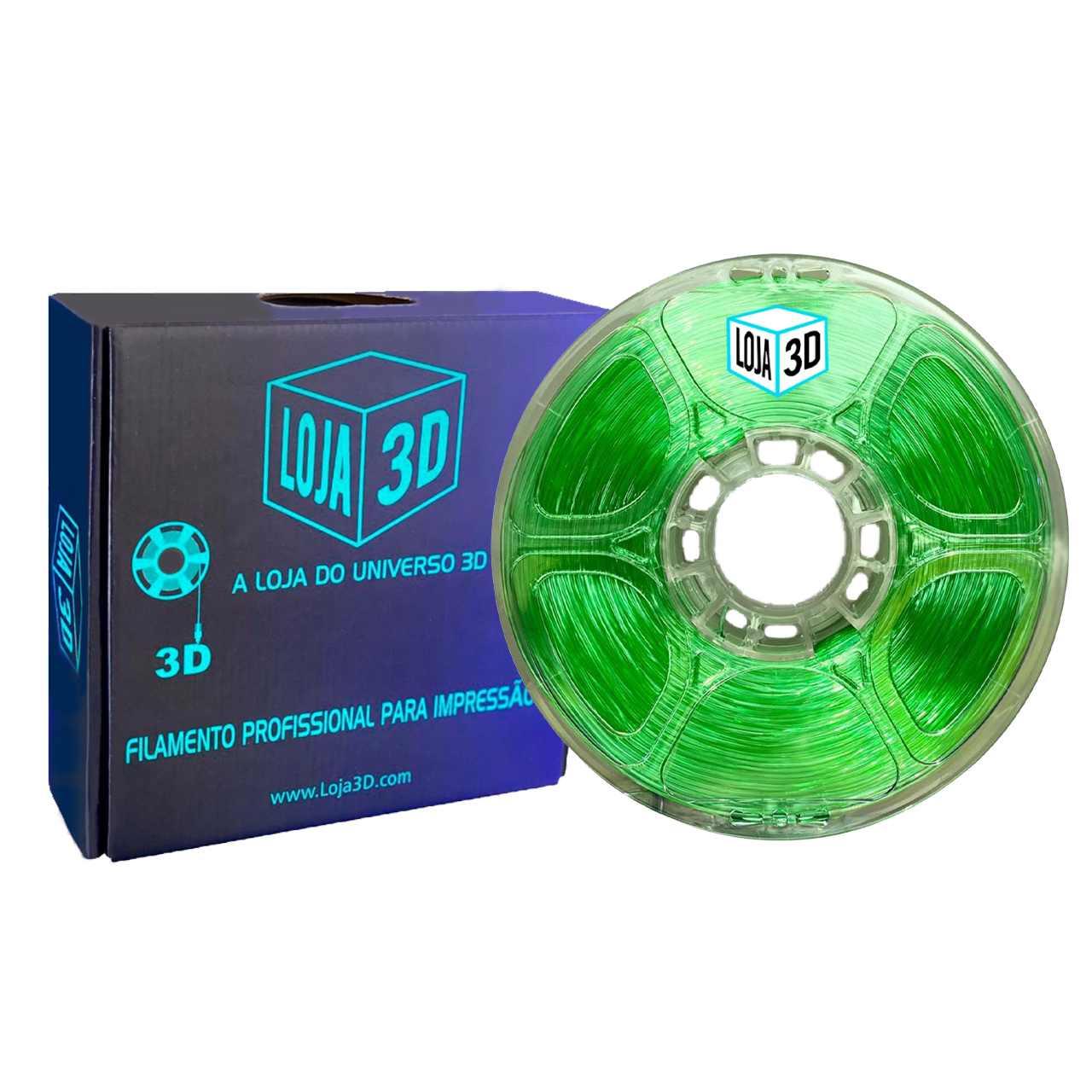 Filamento Flex TPU Premium - Verde Mato - Loja 3D - 1.75mm - 1kg