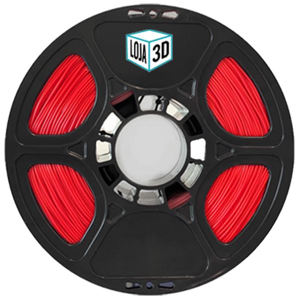Filamento Flex TPU Premium - Vermelho - 100a 61d - Loja 3D - 1.75mm - 1kg