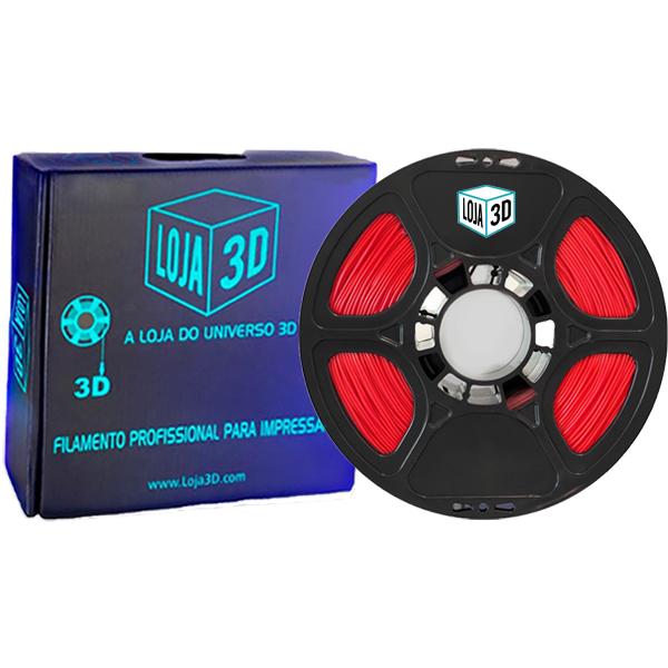 Filamento Flex TPU Premium - Vermelho - 100a 96d - Loja 3D - 1.75mm - 1kg