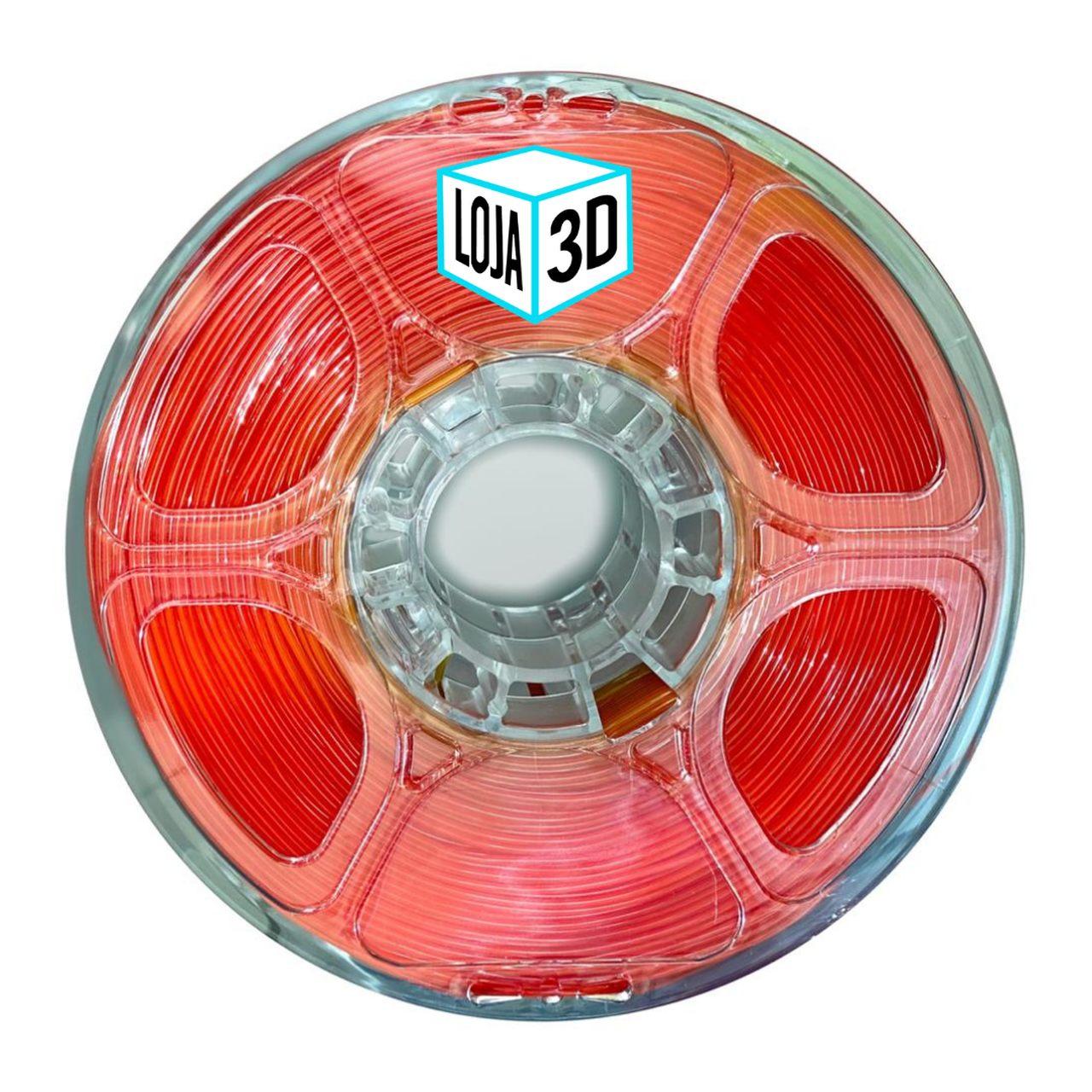 Filamento Flex TPU Premium - Vermelho - Loja 3D - 1.75mm - 1kg