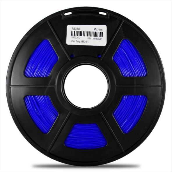Filamento Flexível TPU - Azul - GTMax3D - 1.75mm - 500g