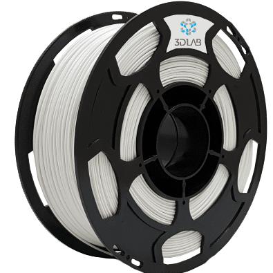 Filamento Flexível TPU - Branco - 3D Lab - 1.75mm - 1kg