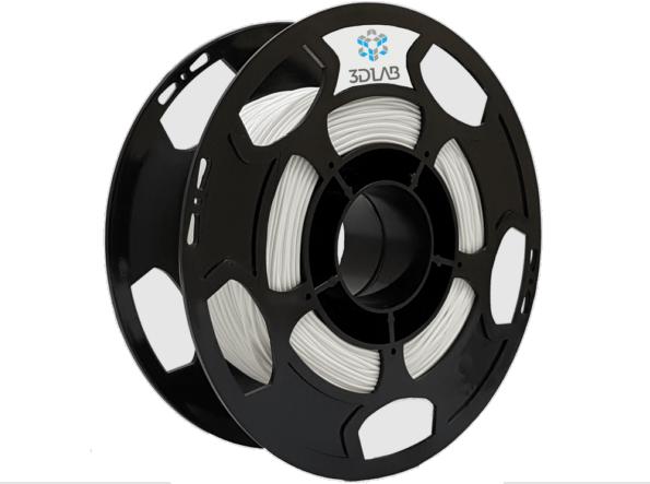 Filamento Flexível TPU - Branco - 3D Lab - 1.75mm - 500g