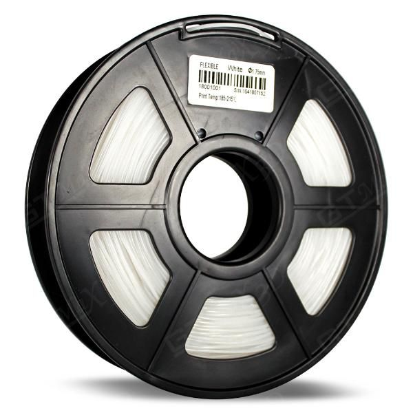 Filamento Flexível TPU - Branco - GTMax3D - 1.75mm - 500g