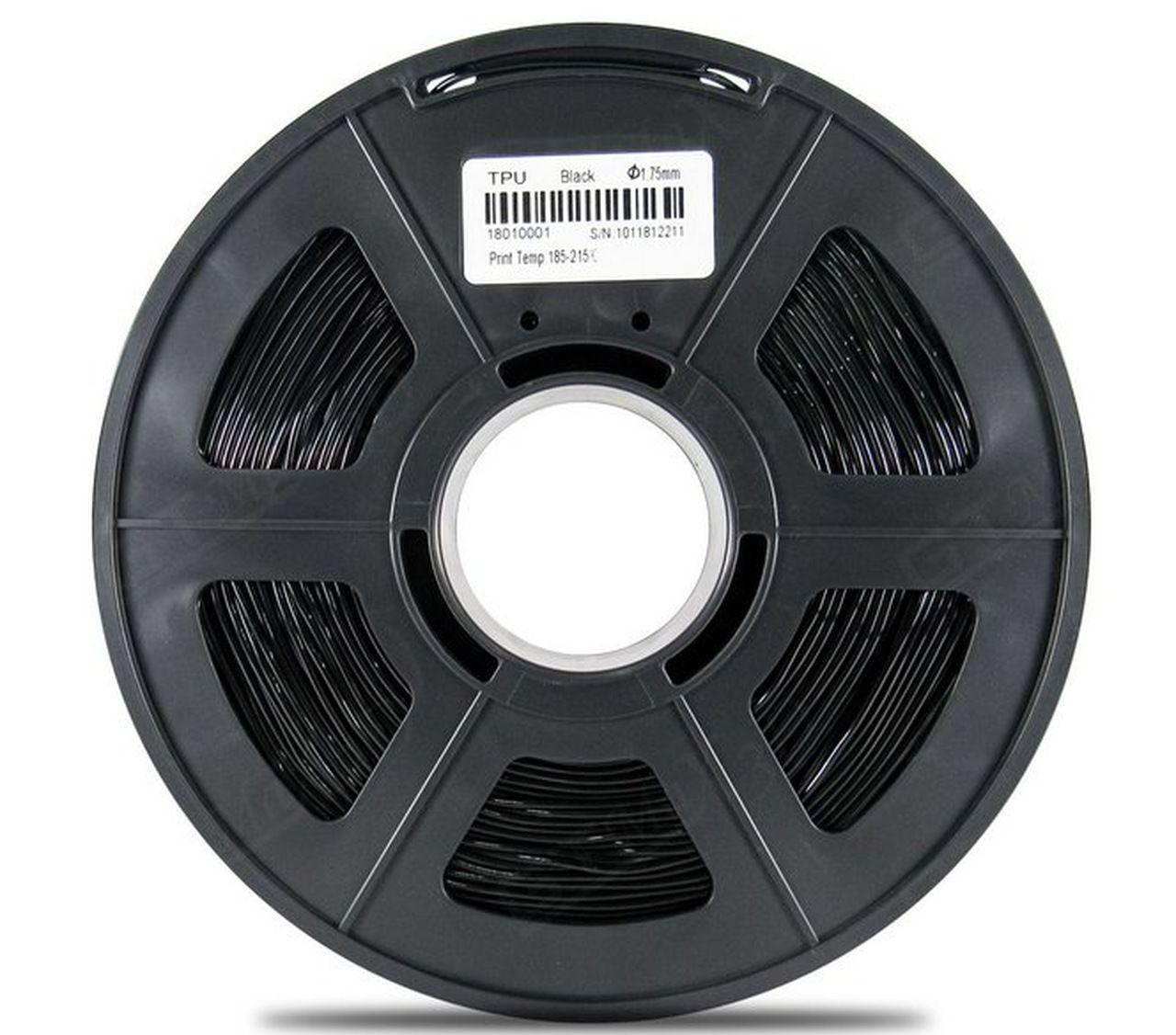 Filamento Flexível TPU - Preto - GTMax3D - 1.75mm - 500g