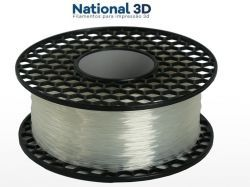 Filamento Flexível TPU Shore 52D - Natural - National 3D - 1.75mm - 1kg