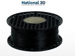 Filamento Flexível TPU Shore 95A - Preto - National 3D - 1.75mm - 1kg