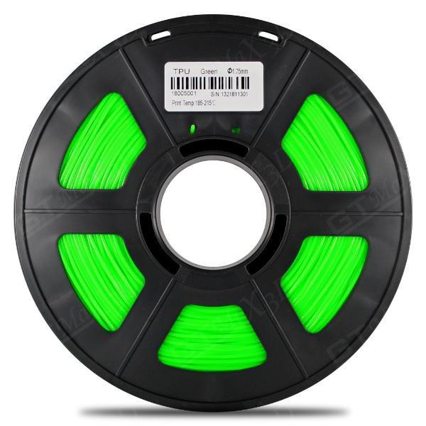 Filamento Flexível TPU - Verde - GTMax3D - 1.75mm - 500g