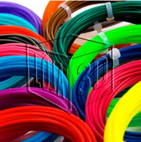 Filamento para Caneta 3D - PLA Pro - Loja 3D - 5 Rolinhos de 5 Metros - 25 metros