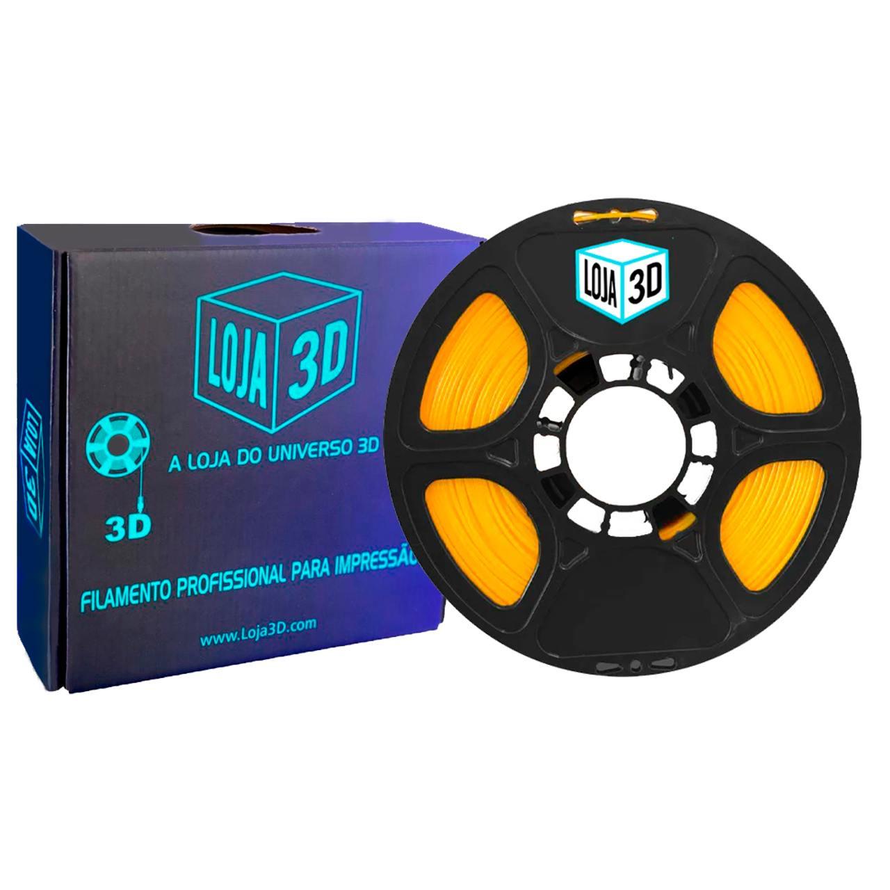 Filamento PET-G Pro - Amarelo - Loja 3D - 1.75mm - 1kg