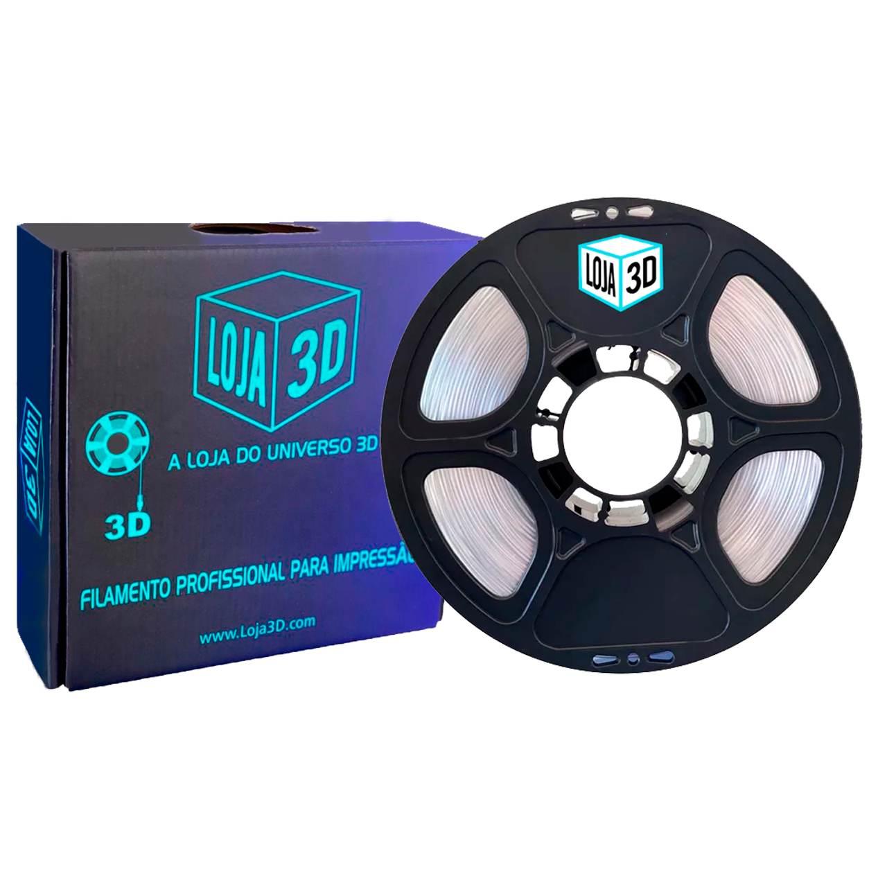 Filamento PET-G Pro - Cristal - Translúcido - Loja 3D - 1.75mm - 1kg