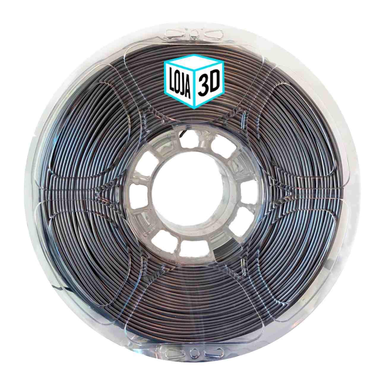 Filamento PET-G Pro - Prata - Loja 3D - 1.75mm - 1kg