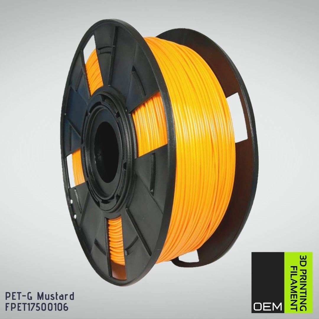 Filamento PETG - Amarelo Mustarda - OEM - 1.75mm - 1KG