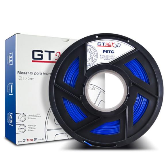 Filamento PETG - Azul - GTMax 3D - 1.75 mm - 1 KG