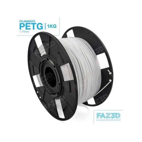 Filamento Petg - Branco - FAZ3D - 1.75mm - 1kg