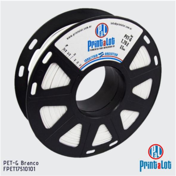 Filamento PETG - Branco - PrintaLot - 1.75mm - 1KG