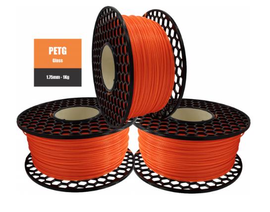 Filamento PETG - Laranja Translúcido Glass - PETG  - National 3D - 1.75 mm - 1 KG