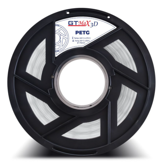 Filamento PETG - Natural (Transparente) - GTMax 3D - 1.75 mm - 1 KG