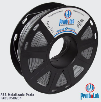 Filamento PETG - Prata Metalizado - PrintaLot - 1.75mm - 1KG
