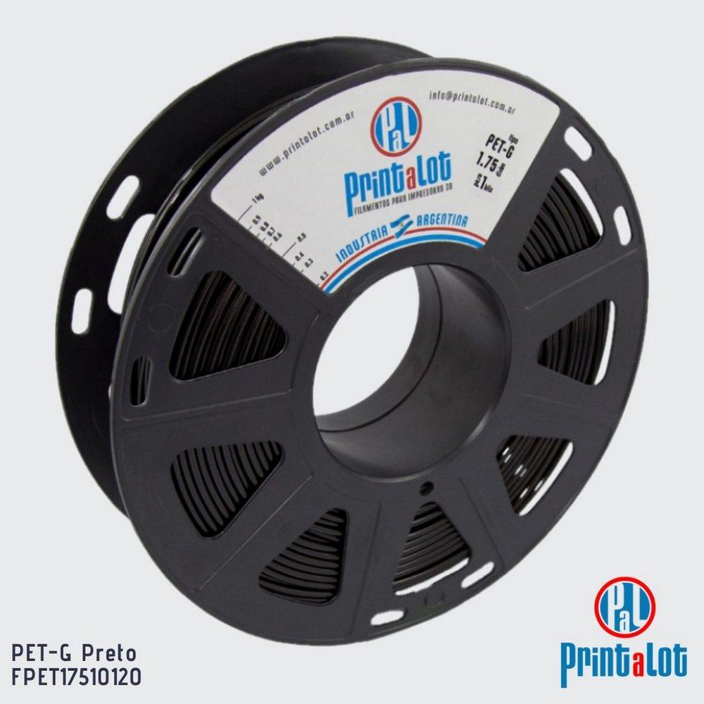 Filamento PETG - Preto - PrintaLot - 1.75mm - 1KG