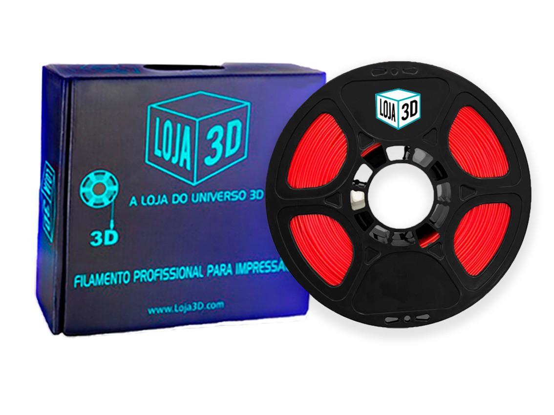 Filamento PET-G Pro - Vermelho - Loja 3D - 1.75mm - 1kg