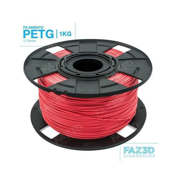 Filamento Petg - Vermelho - FAZ3D - 1.75mm - 1kg