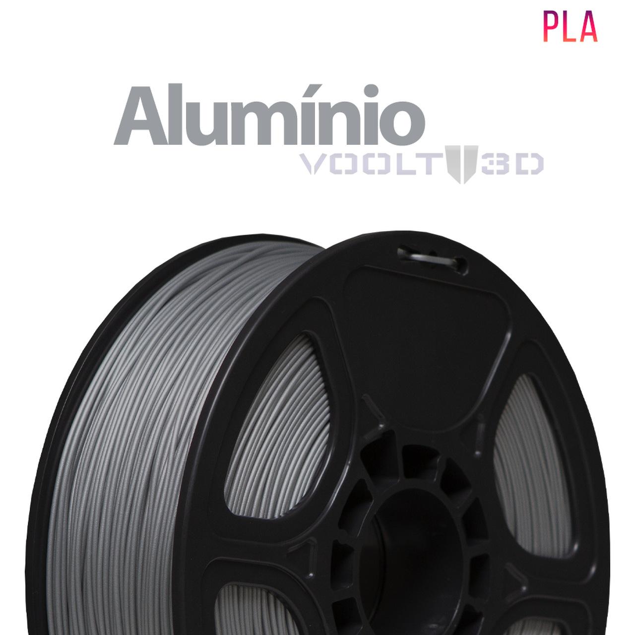Filamento PLA - Alumínio - Voolt - 1.75mm - 1kg