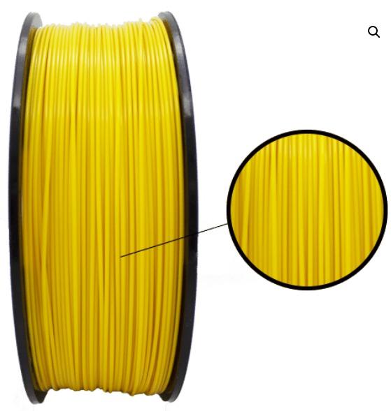Filamento PLA - Amarelo - 3D Lab - 1.75mm - 1kg