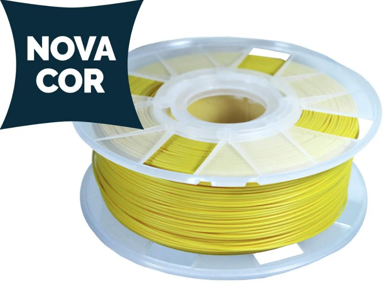 Filamento PLA - Amarelo - Cliever - 1.75mm - 1kg + 1 Spray Fixador