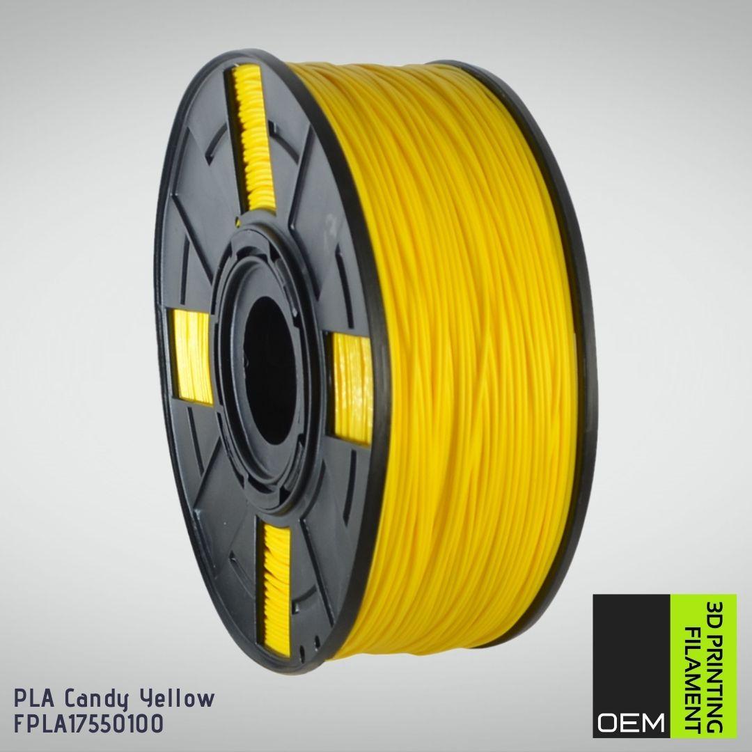 Filamento PLA  Amarelo - OEM - 1.75mm - 1KG