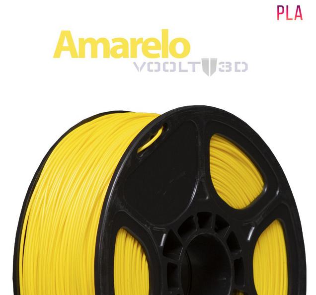 Filamento PLA - Amarelo - Voolt - 1.75mm - 1kg
