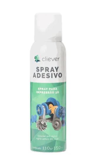 Filamento PLA - Azul Céu - Cliever - 1.75mm - 1kg + 1 Spray Fixador