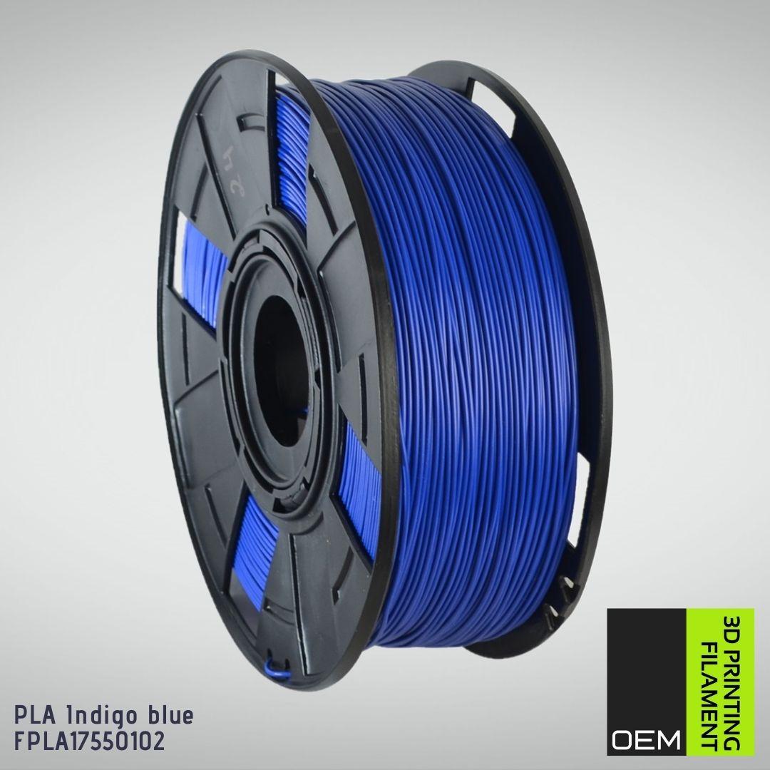 Filamento PLA - Azul Índigo - OEM - 1.75mm - 1KG