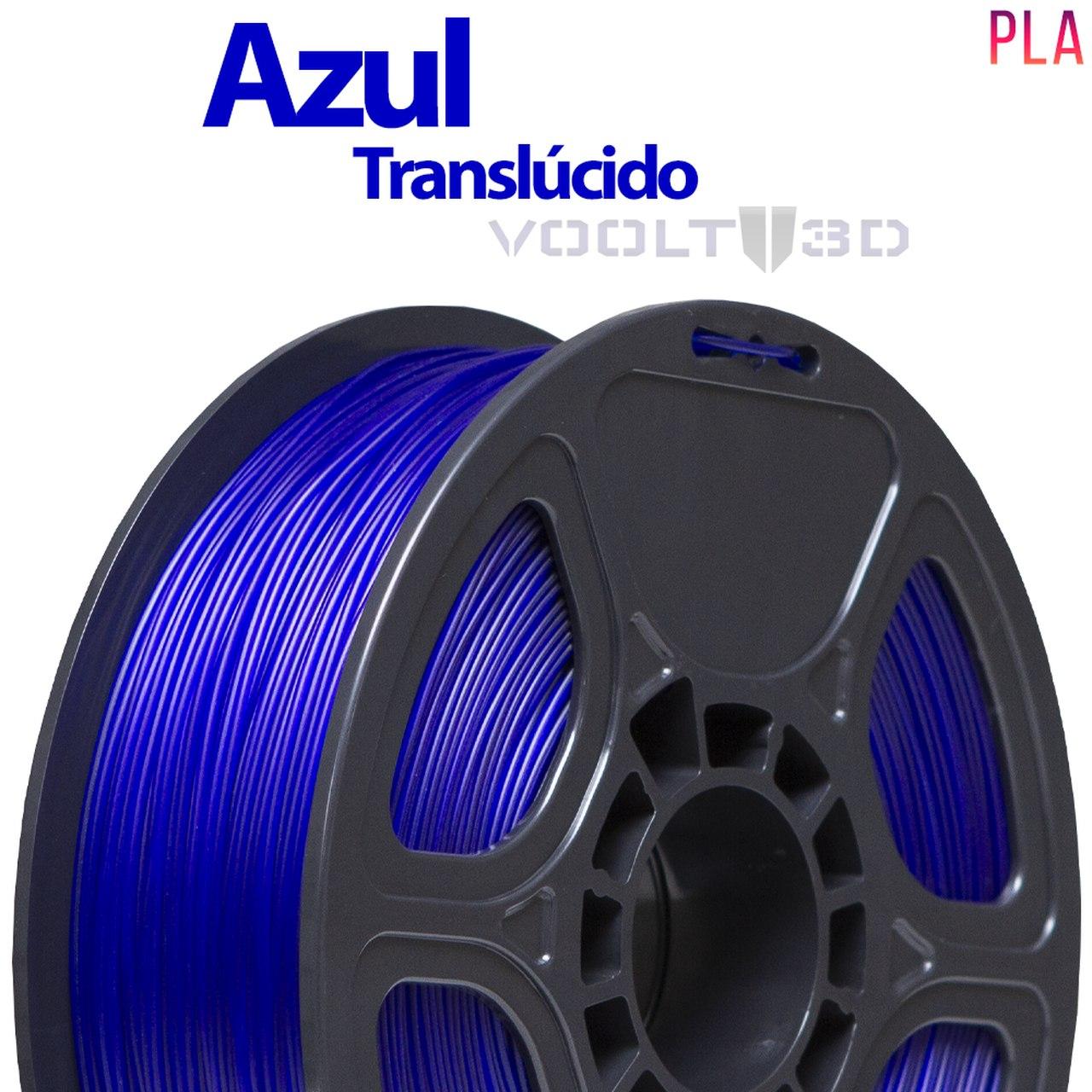 Filamento PLA - Azul Translúcido - Voolt - 1.75mm - 1kg