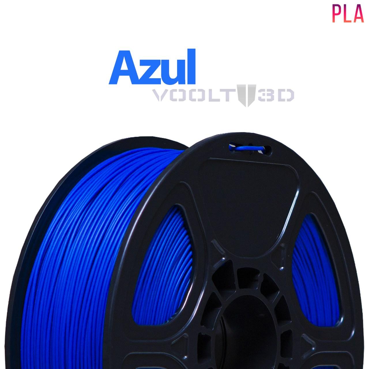 Filamento PLA - Azul - Voolt - 1.75mm - 1kg