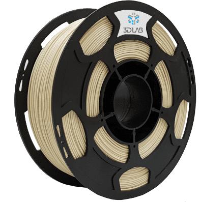 Filamento PLA - Bege - 3D Lab - 1.75mm - 1kg