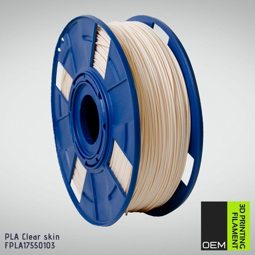 Filamento PLA - Bege Pele - OEM - 1.75mm - 1KG
