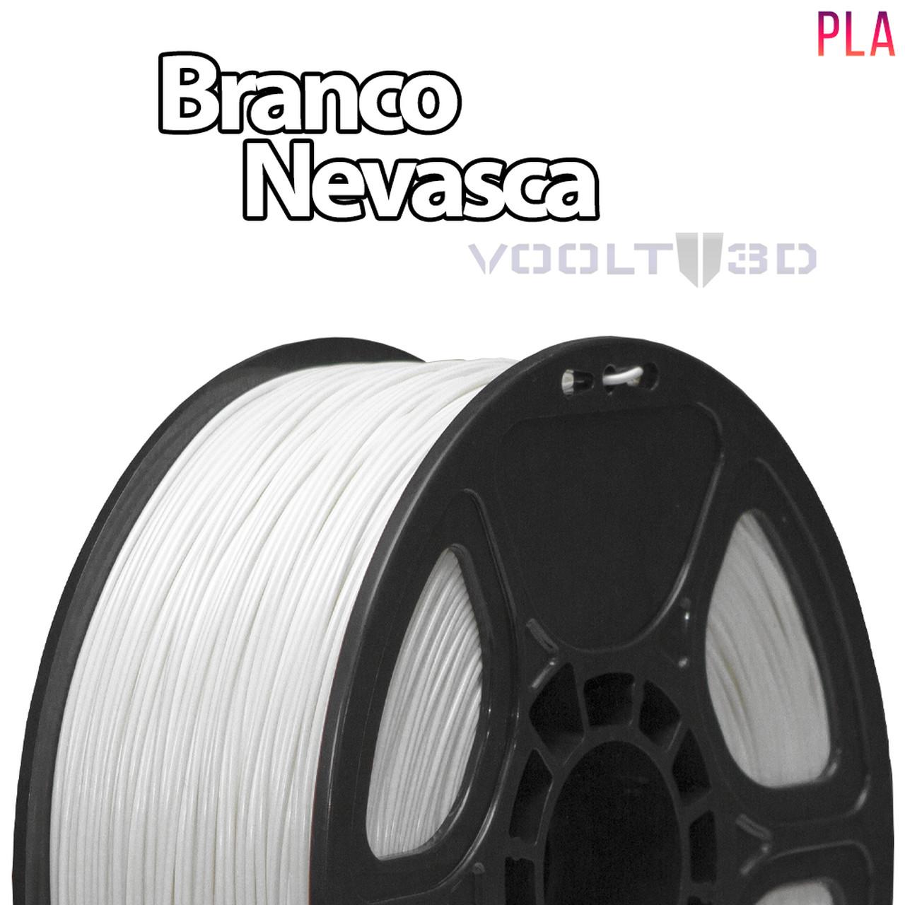 Filamento PLA - Branco Nevasca - Voolt - 1.75mm - 1kg
